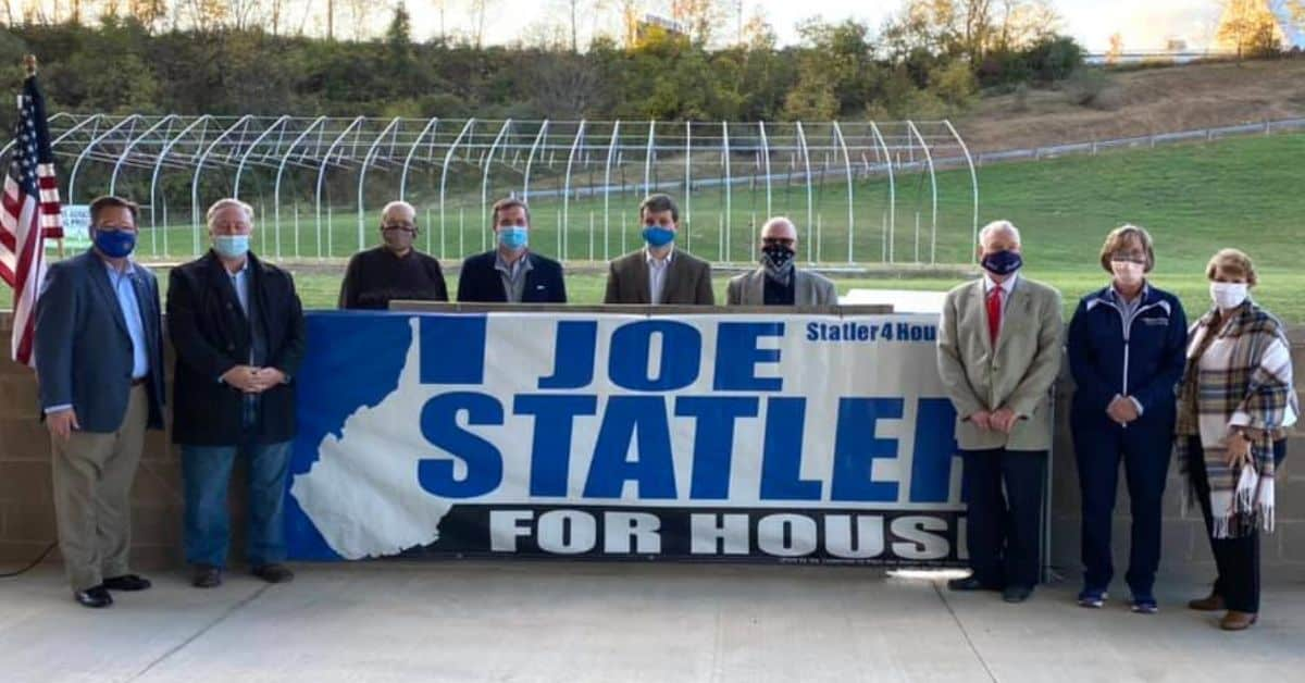 Joe Statler stands with WV State Legislature leaders who have endorsed his campaign.
